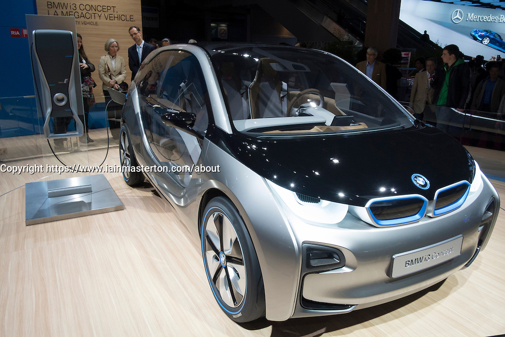 BMW electric i3 prototype car at Paris Motor Show 2012