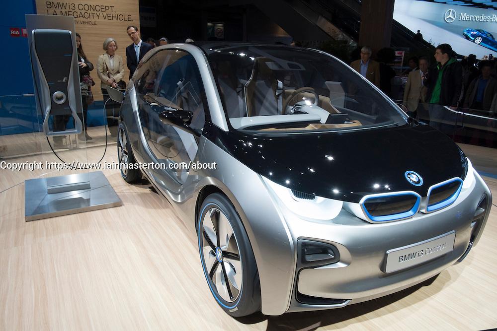 BMW electric i3 prototype car at Paris Motor Show 2012