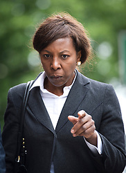 © London News Pictures. 24/06/2013. London, UK.  Judge Constance Briscoe leaving Westminster Magistrates Court in London where she faced charges of perverting the course of justice. The charges relate to allegedly inaccurate statements and an allegedly altered witness statement during a police investigation into Chris Huhne and Vicky Pryce's driving offence. Photo credit should read: Ben Cawthra/LNP