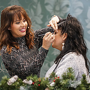 Hayley Sparkes is a Make-Up / Beauty Styling presentation at Ideal Home Show at Christmas on 23rd November 2016 running from 23rd-27th November at Olympia, London,UK. Photo by See Li