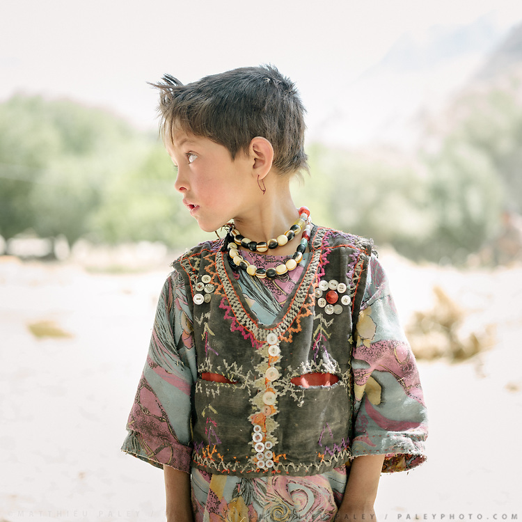 Portrait of a young girl. The traditional life of the Wakhi people, in the Wakhan corridor, amongst the Pamir mountains.