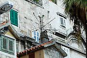 Television antennae along southern wall, near South (Bronze) Gate, Diocletian Palace, Split, Croatia