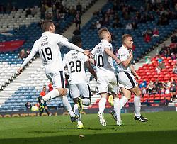 Falkirk's Peter Grant cele scoring their goal. Falkirk 1 v 2 Inverness CT, Scottish Cup final at Hampden.