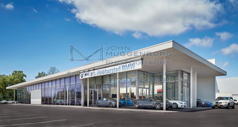 The Habberstad BMW Dealership in Huntington Station, Long Island, NY. Architecture by Callison RTKL. Photographed by John Muggenborg.