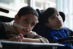 Pupils in a special school for physical disabilities