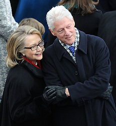 Former President Bill Clinton and First Lady Hillary Clinton attend President Obama swearing-in as 45th U.S. President at the U.S. Capitol in Washington, D.C., USA, on Tuesday, January 21, 2013. Photo by Olivier Douliery/ABACAPRESS.COM