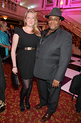 CLIVE ROWE and MAGGIE SERVICE at the West End Eurovision in aid of MAD - The Make A Difference Trust held at the Dominion Theatre, 268-269 Tottenham Court Road, London on 22nd May 2014