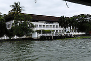 Thursday 14th August 2014: View of the Brunton Boatyard Hotel from the water.