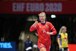 HERNING, DENMARK - DECEMBER 3, 2020: Kamila Kordovska during the EHF Euro 2020 Group C match between Sweden and Czech Republic in Jyske Bank Boxen, Herning, Denmark on December 3 2020. Photo Credit: Allan Jensen/EVENTMEDIA.