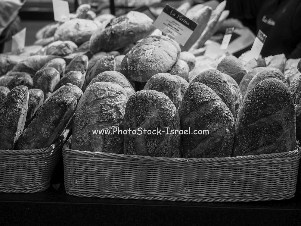 Freshly baked loaves of bread