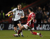 Photo: Olly Greenwood.<br />Charlton Athletic v Fulham. The Barclays Premiership. 27/12/2006. Fulham's Heidar Helguson and Charlton's Radstin Kishishev