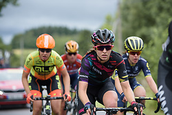 Alexis Ryan in the break at the Crescent Vargarda - a 152 km road race, starting and finishing in Vargarda on August 13, 2017, in Vastra Gotaland, Sweden. (Photo by Sean Robinson/Velofocus.com)