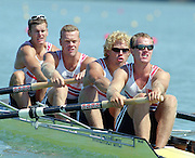St Catherines, CANADA,  Men's Four, NOR M4- .Sture BJOERVIG , Nils-Torolv SIMONSEN , Steffen STOERSETH , Kjetil UNDSET, competing at the 1999 World Rowing Championships - Martindale Pond, Ontario. 08.1999..[Mandatory Credit; Peter Spurrier/Intersport-images]   ...St Catherines, CANADA,  Men's Four, NOR M4- .Sture BJOERVIG , Nils-Torolv SIMONSEN , Steffen STOERSETH , Kjetil UNDSET, competing at the 1999 World Rowing Championships - Martindale Pond, Ontario. 08.1999..[Mandatory Credit; Peter Spurrier/Intersport-images]       ... 1999 FISA. World Rowing Championships, St Catherines, CANADA