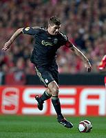 20100401: LISBON, PORTUGAL - SL Benfica vs Liverpool: Europa League 2009/2010 - Quarter-Finals - 1st leg. In picture: Steven Gerrad. PHOTO: Carlos Rodrigues/CITYFILES