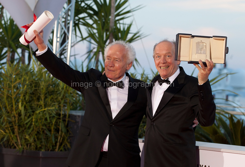 Jean-Pierre Dardenne and Luc Dardenne, winners of the Best Director Award for their film Le Jeune Ahmed at the Palme D'Or Award photo call at the 72nd Cannes Film Festival, Saturday 25th May 2019, Cannes, France. Photo credit: Doreen Kennedy