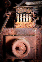 Vintage printing press. Chicago & New York