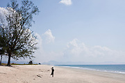 Fisherman in Nabula Beach, Tanintharyi Region, Burma. Endless  white sand can be found 18 kilometres north of Maungmagan. <br /> Note: These images are not distributed or sold in Portugal