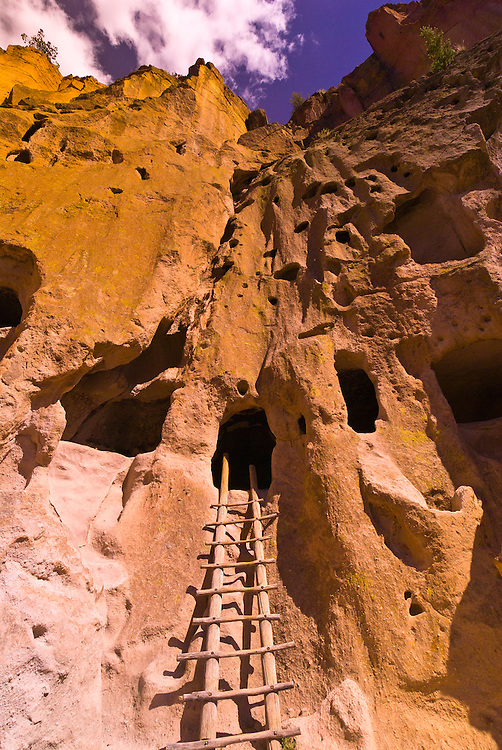 Cliff dwellings (Talus houses), Bandalier National Monument (archaeological site), Los Alamos, New Mexico