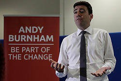 © Paul Thompson Licensed to London News Pictures. 03/09/2015. Bradford West Yorkshire. Andy Burnham speaking at the Khidmat Centre in Bradford, as part of his campaign to become Labour Party Leader. Photo credit : Paul Thompson/LNP