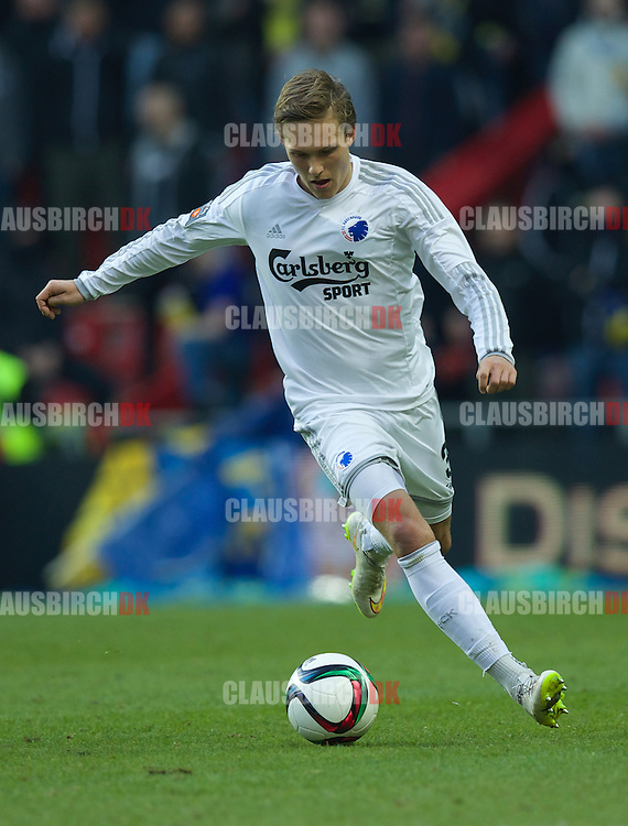 Ludwig Augustinsson of FC København in action during the Danish Alka Superliga match between FC København and Brøndby IF at Telia Parken on March 8, 2015 in Copenhagen, Denmark. (Photo by Claus Birch)