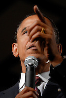 Presidential candidate, Barack Obama, speaks to thousands of supporters at Robinson Secondary School in Fairfax.