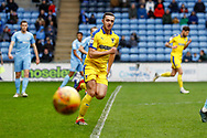 Wimbledon midfielder Anthony Hartigan (8) in action  during the EFL Sky Bet League 1 match between Coventry City and AFC Wimbledon at the Ricoh Arena, Coventry, England on 12 January 2019.