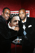 """l to r: Phil Pabon and Londell McMillan at The Russell Simmons and Spike Lee  co-hosted """"I AM C.H.A.N.G.E!"""" Get out the Vote Party presented by The Source Magazine and The HipHop Summit Action Network held at Home on October 30, 2008 in New York City"""