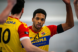 Nathan Fullerton of Dynamo in action during the first league match in the corona lockdown between Sliedrecht Sport vs. Draisma Dynamo on January 09, 2021 in Sliedrecht.