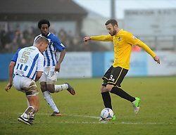 Bristol Rovers' Andy Monkhouse gets a shot away - Photo mandatory by-line: Neil Brookman/JMP - Mobile: 07966 386802 - 04/01/2015 - SPORT - football - Nuneaton - James Parnell Stadium - Nuneaton Town v Bristol Rovers - Vanarama Conference