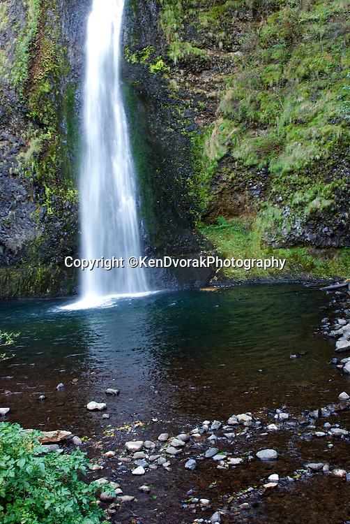 Horsetail Fall on Old Highway 30 East of Portland, OR. Just off the highway you find a beautiful hidden waterfall.