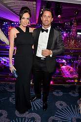 TAMARA ECCLESTONE and JAY RUTLAND at the Caudwell Children's annual Butterfly Ball held at The Grosvenor House Hotel, Park Lane, London on 15th May 2014.