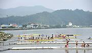 Chungju, South Korea. 2013 FISA World Rowing Championships, General Views of the  Tangeum Lake International Regatta Course. 08:36:06  Saturday  24/08/2013 [Mandatory Credit. Peter Spurrier/Intersport Images]