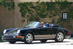 EXCLUSIVE: George Clooney takes a spin in his classic Porsche, social distancing from BFF Rande Gerber, driving his classic Corvette. The actor, 57, and his businessman buddy 56, who is married to supermodel Cindy Crawford, enjoyed an outing near their multi-million dollar homes in LA. 24 Apr 2020 Pictured: George Clooney, Rande Gerber. Photo credit: P&P / MEGA TheMegaAgency.com +1 888 505 6342
