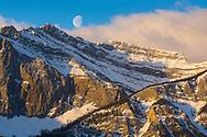 Setting Winter Moon, Canmore, Alberta
