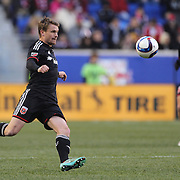 Taylor Kemp, D.C. United, in action during the New York Red Bulls Vs D.C. United Major League Soccer regular season match at Red Bull Arena, Harrison, New Jersey. USA. 22nd March 2015. Photo Tim Clayton