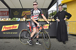 July 27, 2018 - Laruns, FRANCE - Australian Rory Sutherland of UAE Team Emirates pictured before the start of the 19th stage of the 105th edition of the Tour de France cycling race, 200,5km from Lourdes to Laruns, France, Friday 27 July 2018. This year's Tour de France takes place from July 7th to July 29th. BELGA PHOTO YORICK JANSENS (Credit Image: © Yorick Jansens/Belga via ZUMA Press)