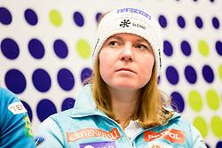Marusa Ferk at press conference of Slovenian Alpine Ski Team before World Cup in St. Moritz, on January 31 2017, in Ljubljana, Slovenia. Photo by Urban Urbanc / Sportida