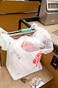 Many cities are banning plastic shopping bags or passings laws forcing stores to charge for the bags. Plastic bags are a major contributor to the plastic marine debris situation in the oceans, the bags are washed to sea by rivers and runoff after rains. Los Angeles, California, USA
