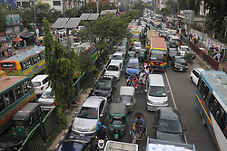 May 24, 2019 - Dhaka, bangladesh - A general view of a traffic jam on a holy day during Ramadan and ahead of Eid near Science Laboratory Road in Dhaka. (Credit Image: © MD Mehedi Hasan/ZUMA Wire)