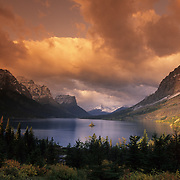 Saint Mary Lake and Wild Goose Island during autumn in Glacier National Park, Montana. Submission for Montana Outdoors JF18
