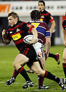 Canterbury fullback Ben Blair on the charge during the Air New Zealand Cup week 4 Ranfurly Shield match between Canterbury and Southland on Friday August 18, 2006 at Jade Stadium in Christchurch, New Zealand. Canterbury won the game 24-7. Photo: Jim Helsel/Photosport