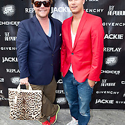 NLD/Amsterdam/20110825 - Uitreiking Jackie's Best Dressed List 2011, Bastiaan van Schaik en Joel Davans
