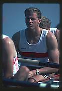 Banyoles, SPAIN, German Men's Eight. 1992 Olympic Regatta, Lake Banyoles, Barcelona, SPAIN. Bronze Medalist crew; GER M8+. Roland BAAR , Armin EICHHOLZ , Detlef KIRCHHOFF , Bahne RABE , Frank RICHTER , Hans SENNEWALD , Thorsten STREPPELHOFF , Ansgar WESSLING , Manfred KLEIN (c).   [Mandatory Credit: Peter Spurrier: Intersport Images]