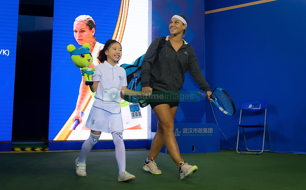 September 26, 2018 - Dominika Cibulkova of Slovakia on her way onto the court for her third-round match at the 2018 Dongfeng Motor Wuhan Open WTA Premier 5 tennis tournament (Credit Image: © AFP7 via ZUMA Wire)