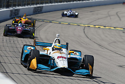 July 8, 2018 - Newton, Iowa, United States of America - GABBY CHAVES (88) of Colombia battles for position during the Iowa Corn 300 at Iowa Speedway in Newton, Iowa. (Credit Image: © Justin R. Noe Asp Inc/ASP via ZUMA Wire)