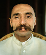 Ejaz Ullah Baig, carekeeper of the Baltit Fort, belongs to the Mir's family. People and places of the Hunza Valley, in the heart of the Karakoram mountain Range, North Pakistan.