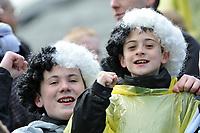 Photo: Tony Oudot/Richard Lane Photography. <br /> Gilingham Town v Swansea City. Coca-Cola League One. 12/04/2008. <br /> Swansea fans celebrate their promotion