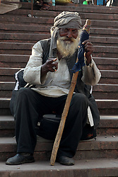 A man begs in the market near the Jama Masjid mosque in Delhi India.  The Commonwealth Games are being held in Delhi India between the 3rd and 14th October 2010..Photoby:  Ron Gaunt/SPORTZPICS