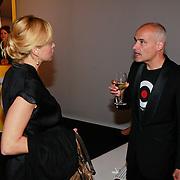 NLD/Amsterdam/20110713 - AIFW 2011 Summer, show Spijker & Spijker, Do in gesprek met journalist Marc Koster