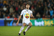 Federico Fernandez of Swansea city in action.Premier league match, Swansea city v Crystal Palace at the Liberty Stadium in Swansea, South Wales on Saturday 23rd December 2017.<br /> pic by  Andrew Orchard, Andrew Orchard sports photography.